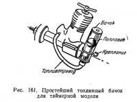 Рис. 161. Простейший топливный бачок для таймерной модели