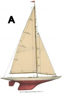 Рис. 171. Общий вид яхты-модели класса «А»