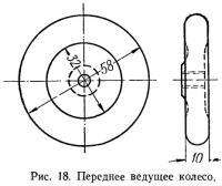 Рис. 18. Переднее ведущее колесо
