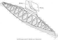 Рис. 180. Яхта-модель класса «М». Сборочный чертеж и крепление киля