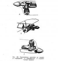 Рис. 192. Расположение двигателя на модели