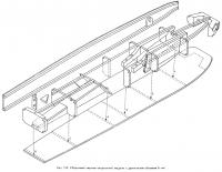 Рис. 192. Сборочный чертеж скоростной модели ЛКИ с двигателем 5 см3