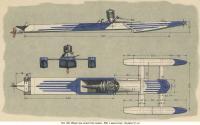 Рис. 193. Общий вид скоростной модели ЛКИ с двигателем 10 см3