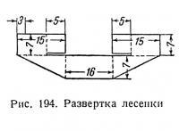 Рис. 194. Развертка лесенки