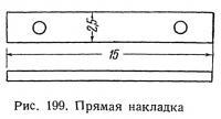 Рис. 199. Прямая накладка