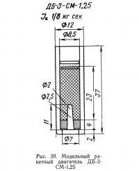 Рис. 20. Модельный ракетный двигатель ДБ-3-СМ-1,25