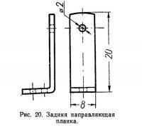 Рис. 20. Задняя направляющая планка