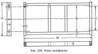 Рис. 203. Рама платформы