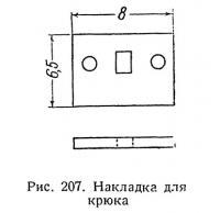 Рис. 207. Накладка для крюка