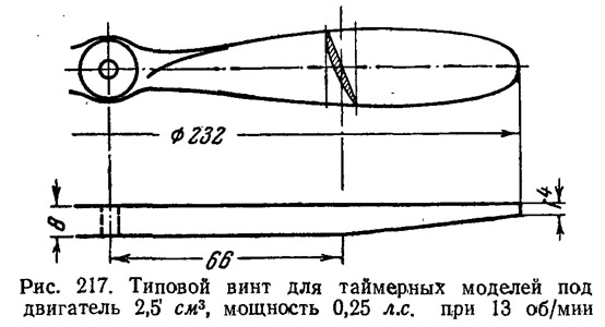Рис. 217. Типовой винт для таймерных моделей