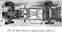 Рис. 22. Вид снизу на шасси модели ЗИЛ-111