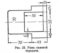 Рис. 23. Рама силовой передачи