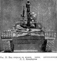 Рис. 23. Вид спереди на модель танка