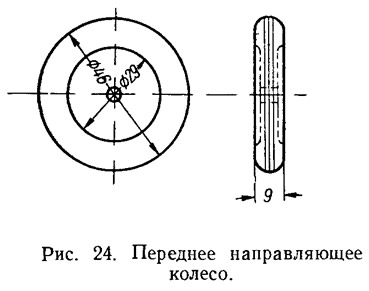 Рис. 24. Переднее направляющее колесо
