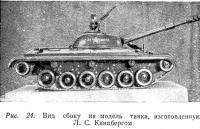 Рис. 24. Вид сбоку на модель танка