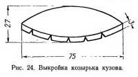 Рис. 24. Выкройка козырька кузова