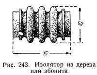 Рис. 243. Изолятор из дерева или эбонита