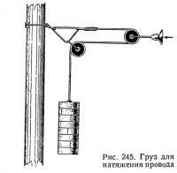 Рис. 245. Груз для натяжения провода