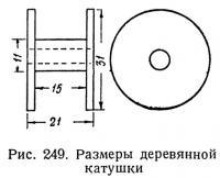 Рис. 249. Размеры деревянной катушки