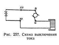 Рис. 257. Схема выключения тока