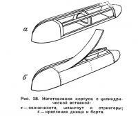 Рис. 28. Изготовление корпуса с цилиндрической вставкой