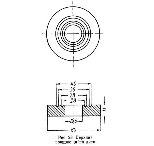 Рис. 28. Верхний вращающийся диск