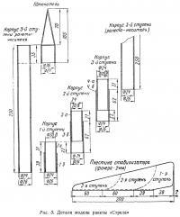Рис. 3. Детали модели ракеты «Стрела»
