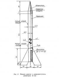 Рис. 4. Модель ракеты с микродвигателем диаметром 12 мм
