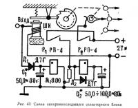 Рис. 43. Схема синхронноследящего селекторного блока