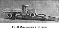 Рис. 44. Модель мостика с грузовиком