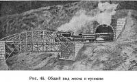 Рис. 46. Общий вид моста и туннеля