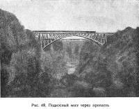 Рис. 48. Подносный мост через пропасть