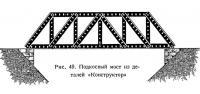 Рис. 49. Подкосный мост из деталей «Конструктор»