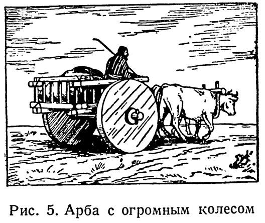 Рис. 5. Арба с огромным колесом
