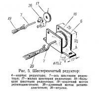 Рис. 5. Шестеренчатый редуктор
