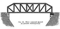 Рис. 50. Мост с верхней фермой из деталей «Конструктор»