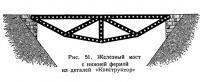 Рис. 51. Железный мост с нижней фермой из деталей «Конструктор»
