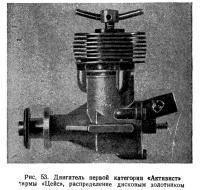 Рис. 53. Двигатель «Активист», распределение дисковым золотником