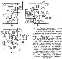 Рис. 5.4. Схемы транзисторных сверхрегенеративных детекторов
