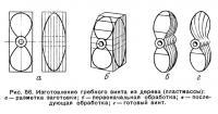 Рис. 56. Изготовление гребного винта из дерева (пластмассы)