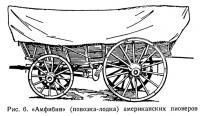 Рис. 6. «Амфибия» (повозка-лодка) американских пионеров