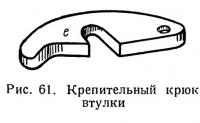 Рис. 61. Крепительный крюк втулки
