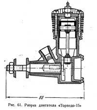 Рис. 61. Разрез двигателя «Торпедо-15»