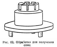 Рис. 62. Обработка для получения спиц