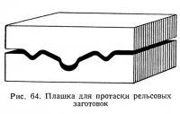 Рис. 64. Плашка для протаски рельсовых заготовок