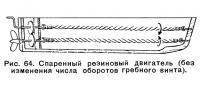 Рис. 64. Спаренный резиновый двигатель