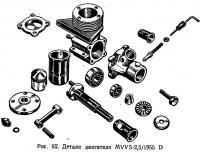 Рис. 65. Детали двигателя MVVS-2,5/1955 D