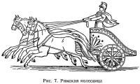 Рис. 7. Римская колесница