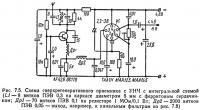 Рис. 7.5. Схема сверхрегенеративного приемника с УНЧ с интегральной схемой