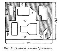 Рис. 8. Основная планка будильника